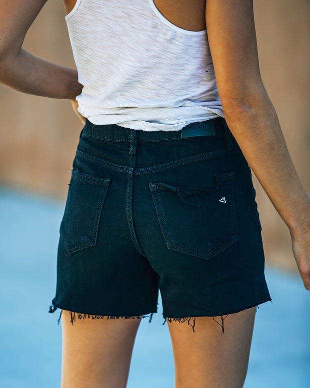 Pixie High Rise Distressed Denim Shorts view 2