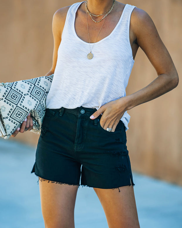 Pixie High Rise Distressed Denim Shorts view 7