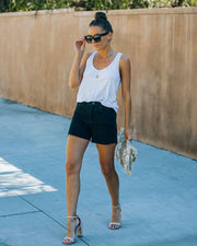 Pixie High Rise Distressed Denim Shorts view 8