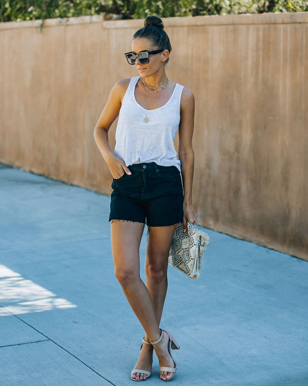Pixie High Rise Distressed Denim Shorts view 6