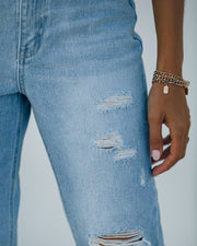 Statement High Rise Distressed Denim