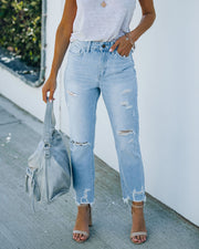 Statement High Rise Distressed Denim view 10