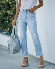 Statement High Rise Distressed Denim view 8