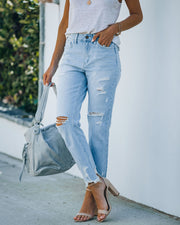 Statement High Rise Distressed Denim view 7