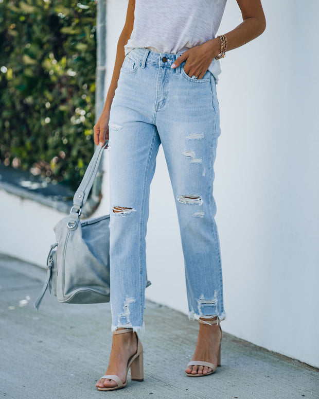 Statement High Rise Distressed Denim view 5