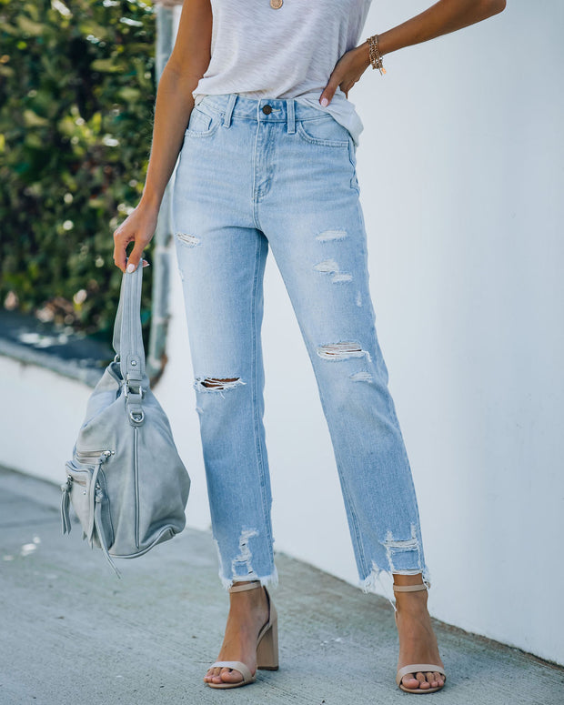 Statement High Rise Distressed Denim view 3