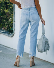 Statement High Rise Distressed Denim view 2