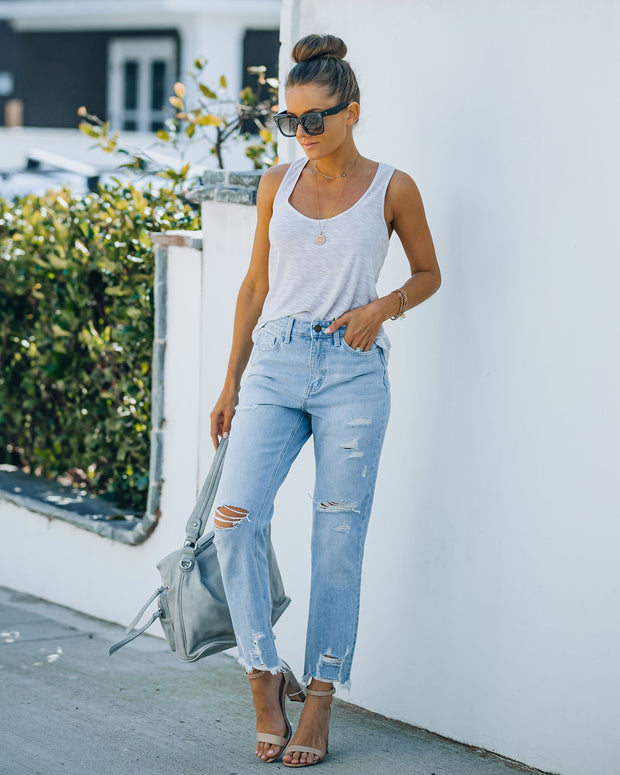 Statement High Rise Distressed Denim view 6