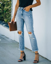 Chime High Rise Distressed Denim view 1