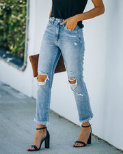 Chime High Rise Distressed Denim view 7