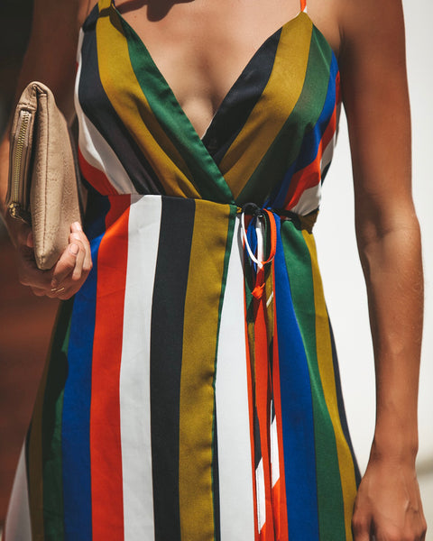 Skylar Striped Wrap Dress - FINAL SALE