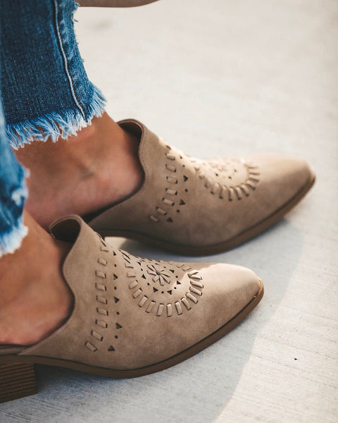 Western Woven Slide - Taupe - FINAL SALE