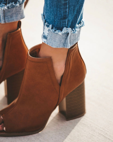 Duffy Peep Toe Bootie - Camel - FINAL SALE