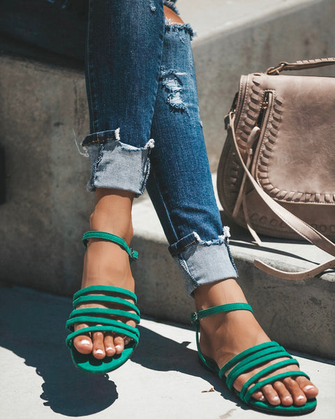 Tutti Frutti Sandals - Green - FINAL SALE