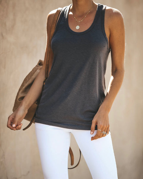 Physique Racerback Tank - Charcoal