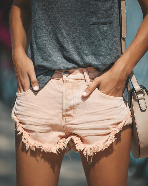Stagecoach Cuffed Shorts - Peach