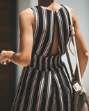 Take Me With You Smocked Jumpsuit - Black - FINAL SALE