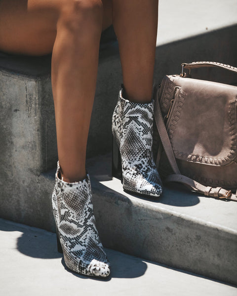 Parma Snake Skin Bootie
