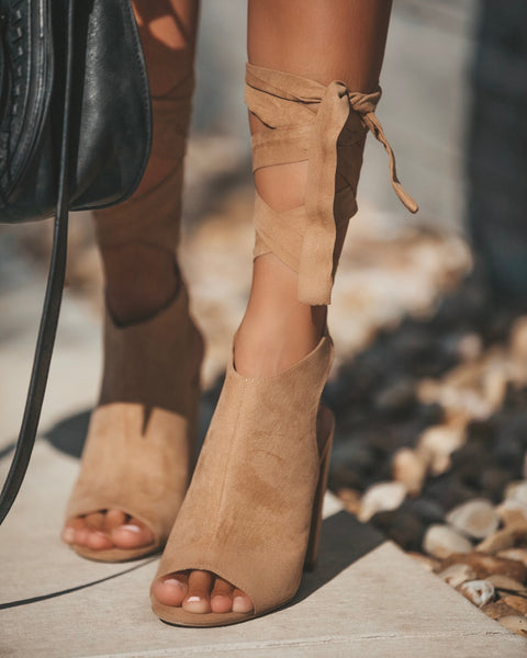 Raya Wrap Bootie - Tan - FLASH SALE