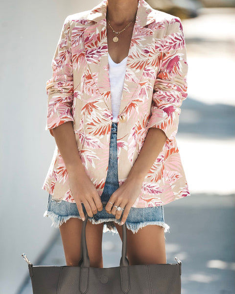 Malibu Barbie Pocketed Linen Blazer - FINAL SALE