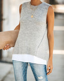 Nine To Five Contrast Open Back Knit Tank