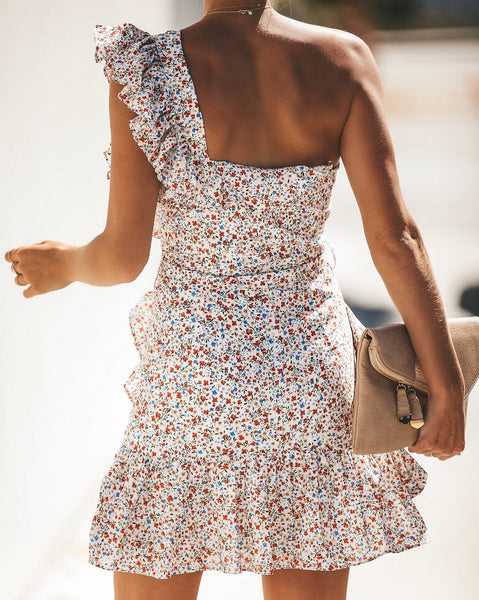 PREORDER - Buy Me Flowers One Shoulder Dress