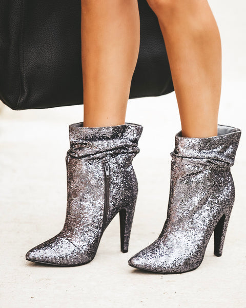 Disco Glitter Scrunch Bootie - FINAL SALE