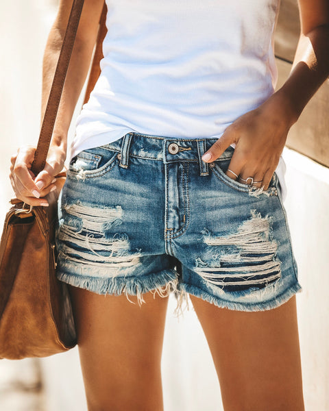 Bandit Distressed Denim Cut Off Shorts