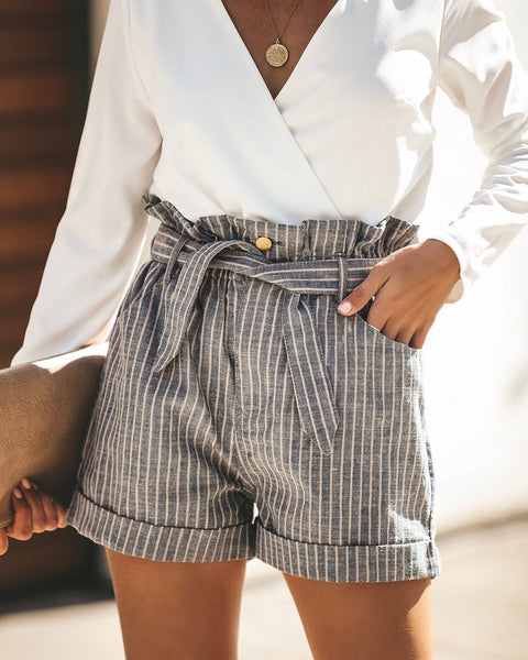 Clique Cotton Blend Pocketed Tie Shorts