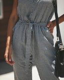 Emory Gingham Pocketed Jumpsuit - FINAL SALE