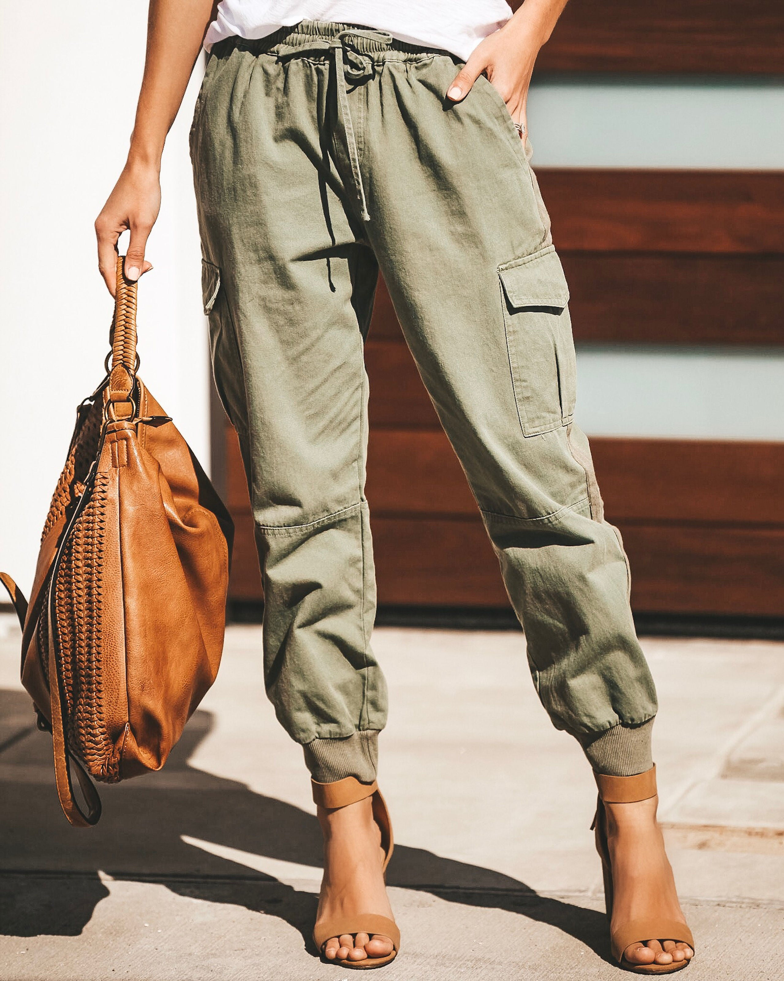 10f049374 Parachute Cropped Cotton Pocketed Joggers – VICI