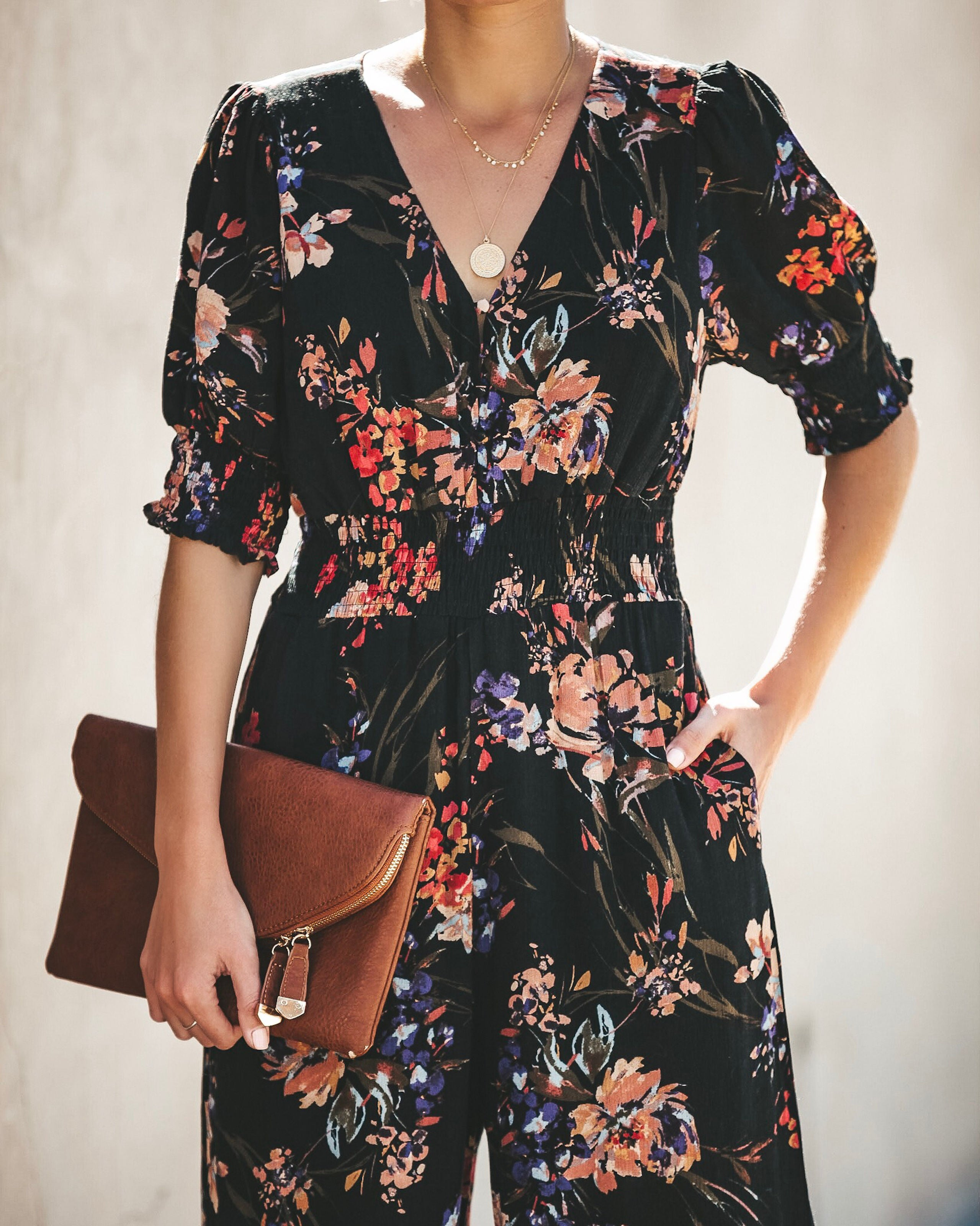 c173575f92a Fearless Floral Pocketed Jumpsuit - FINAL SALE – VICI