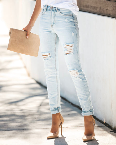 Carolina Distressed High Rise Skinny - FINAL SALE