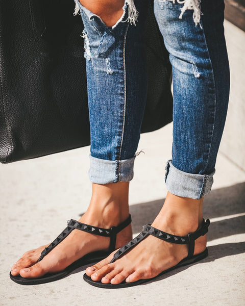 Limitless Studded Matte Sandal - FINAL SALE