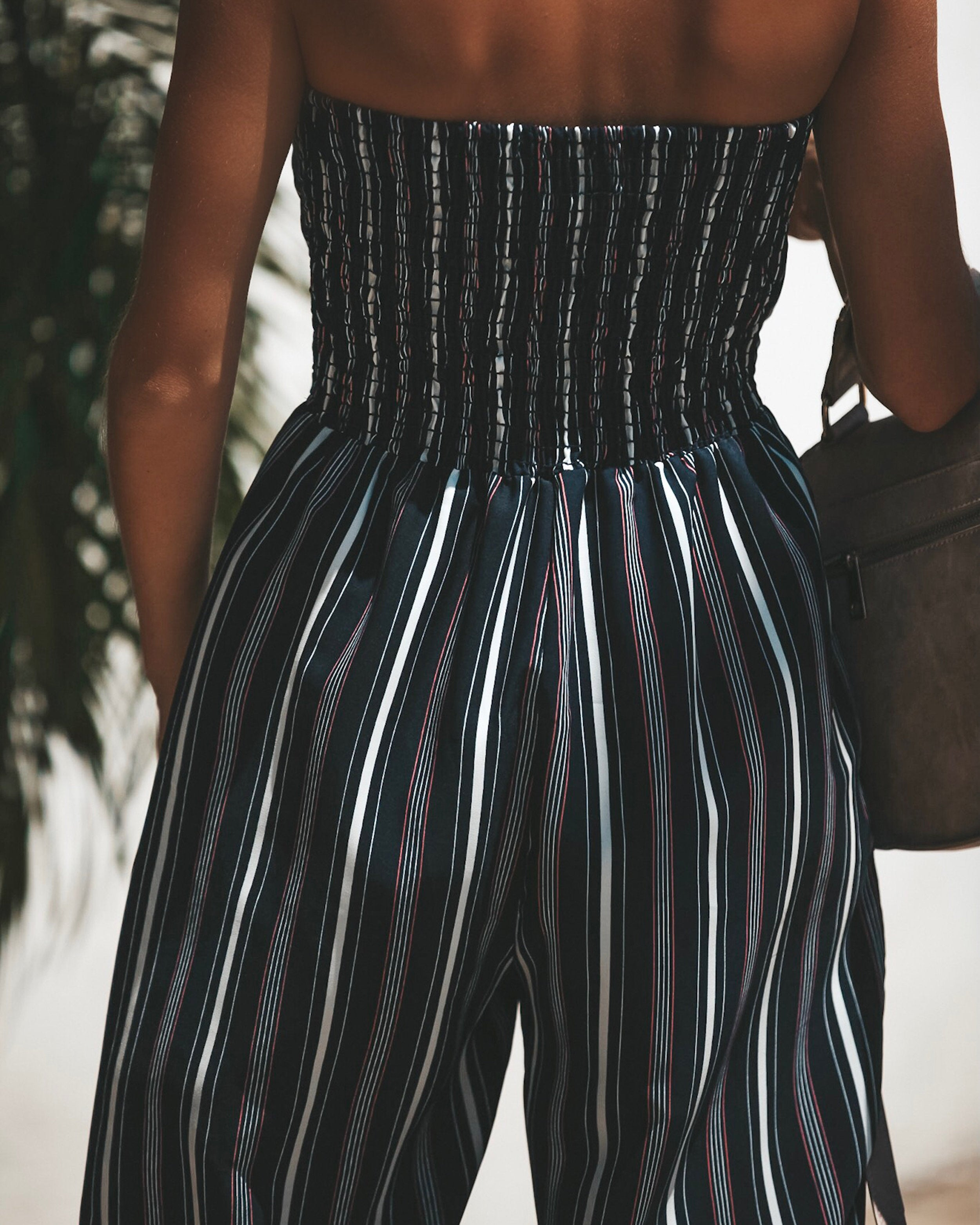 Veronica Strapless Pocketed Jumpsuit Final Sale Vici