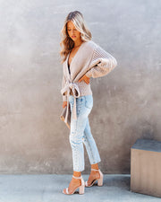 Fair Weather Cotton Blend Wrap Sweater
