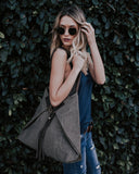 Linen & Leather Everyday Tote