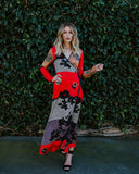 East Village Wrap Maxi Dress - Red