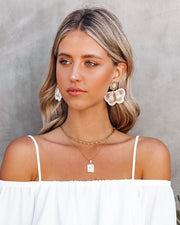 Fly Away Beaded Statement Earrings - White view 2