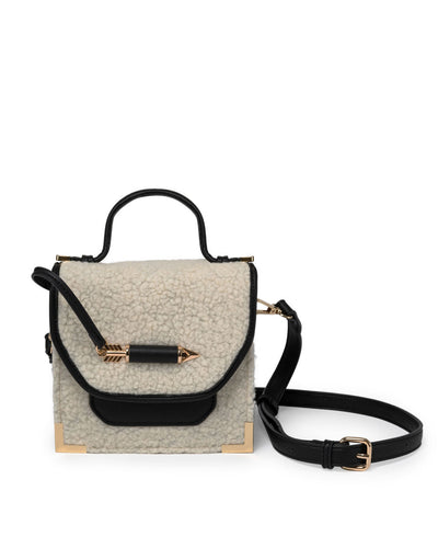 Follow My Lead Sherpa Crossbody Handbag