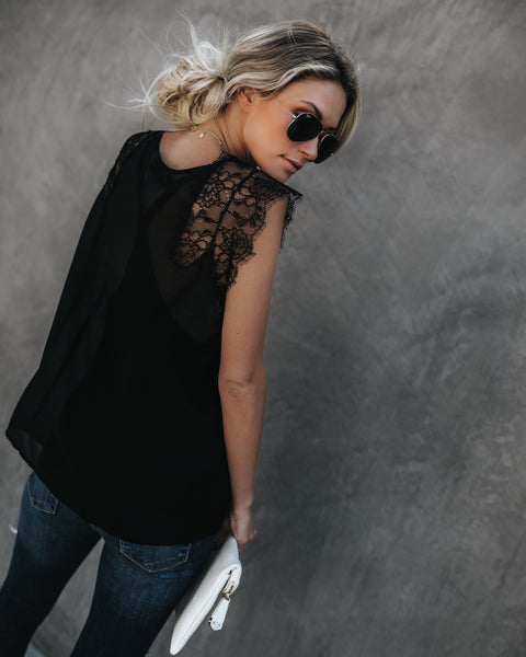 From A Dream Lace Top - Black