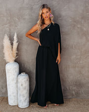 From The Source One Shoulder Maxi Dress - Black