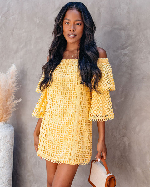 Fun N' Sun Off The Shoulder Crochet Lace Dress