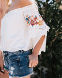 Gypsy Gal Off The Shoulder Embroidered Blouse - FINAL SALE