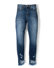 Galloway High Rise Frayed Ankle Skinny