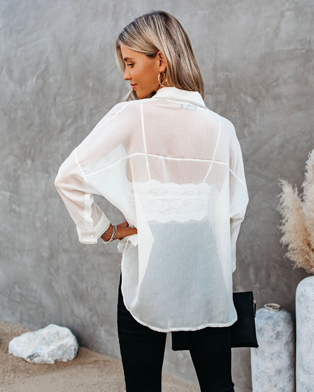 Girl Boss Embellished Sheer Blouse