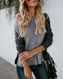 Glacial Colorblock Sweater - Grey