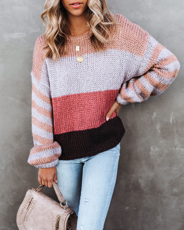 Hang Loose Striped Knit Sweater - FINAL SALE view 3