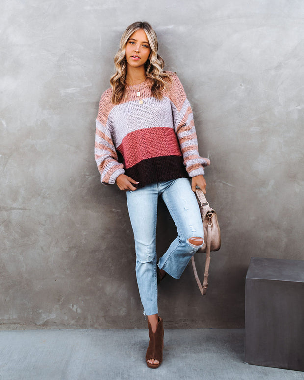 Hang Loose Striped Knit Sweater - FINAL SALE view 6