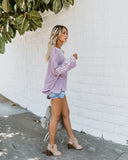 Happiness From Within Dolman Knit Top - Lavender